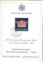LIECHTENSTEIN 1971 CORONO CROWN JOYERIA ARTE JEWLERY - Liechtenstein