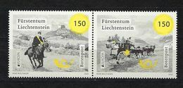 Liechtenstein 2020, Nr. 1971-72, Europa CEPT, Historische Postrouten Postfrisch Mnh ** - Liechtenstein