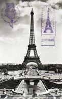 [75] Paris > Non Classés Souvenir Du Sommet De La Tour Eiffel ,tampon , Timbre 29 11 1946 - Zonder Classificatie