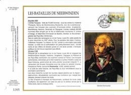 Feuillet Tirage Limité CEF 662 2493 Batailles De Neerwinden Général Doumouriez - Hojas