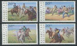 271 - KAZAKHSTAN 1997 - Yvert 166/69 - Cavalier Jeux A Cheval - Neuf ** (MNH) Sans Trace De Charniere - Kazajstán