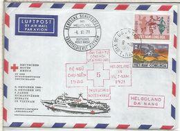 VIETNAM DA NANG CC DESDE EL BUQUE HOSPITAL MS HELGOLAND 1971 CRUZ ROJA GUERRA WAR - Geneeskunde
