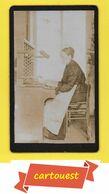 Photographie Albumen ♥️♥️♥️☺♦♥️♦ CDV Circa 1870 - Ouvrière FILATURE Métier A Tisser Mécanique ֎  Broderie - Fil Bobine - Métiers