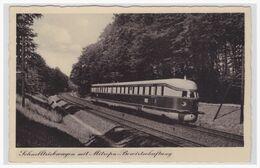AK (003232) Schnelltriebwagen Mit Mitropa Bewirtschaftung, Gelaufen Wuppertal Am 27.11.1938 - Trains