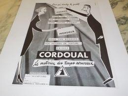 ANCIENNE PUBLICITE MADAME MONSIEUR EXIGEZ CORDOUAL 1953 - Non Classificati