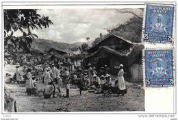 Carte Postale Haïti  Le Marché Trés Beau Plan - Haití