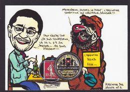 CPM Timbre Monnaie Tirage Limité 30 Ex Numérotés Signés Non Circulé Absinthe Tarn Lavaur Fiac - Briefmarken (Abbildungen)
