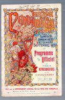 Bordeaux (33 Gironde) Programme FETE DES VENDANGES 1909  (M0582) - Programmi