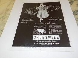 ANCIENNE PUBLICITE FOURRURE BRUNSWICK 1955 - Other