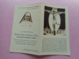 D.P.-MOTHER MARY CHRISTINE C.R.L.(BARONNE A.de CROMBRUGGE De LOORINGHE)+DAMES ANGLAIS BRGES  18-12-1942-68ANS - Religion & Esotérisme