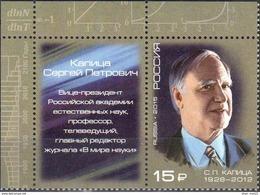 Russia, 2015, Mi. 2130, Sc. 7602, S.P. Kapitsa, Physicist, MNH - Ungebraucht