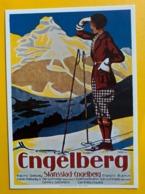 12762 - Engelberg Ski Reproduction D'affiche - Sports D'hiver