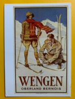 12763 - Wengen Ski Reproduction D'affiche - Sports D'hiver