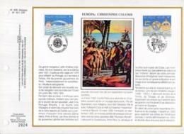 Feuillet Tirage Limité CEF 635 2454 2455 Europa Christophe Colomb - Hojas
