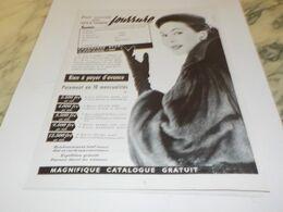 ANCIENNE PUBLICITE FOURRURE STAR 1955 - Other