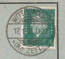 Deutsches Reich Karte Mit Tagesstempel Wittgendorf 1930 Kr Zeitz Lk Burgenlandkreis Mit Werbung Und Zeichnung - Cartas
