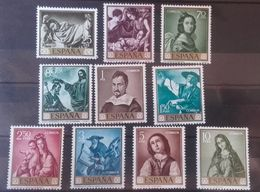 1962 España Edifil 1418/27** MNH- Francisco Zurbarán Serie Completa - 1931-Aujourd'hui: II. République - ....Juan Carlos I