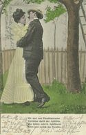 AK Liebespaar - Mann Und Frau Beim Küssen - Color 1906 Götzis K&k #59 - Couples