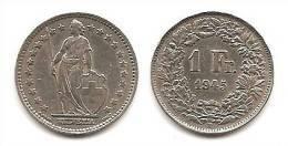 Lot Pièce 1 Franc Suisse Argent 1945 - Suiza