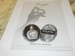 ANCIENNE PUBLICITE PARFUM  FEMME DE MARCEL ROCHAS  1955 - Autres