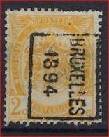 RIJKSWAPEN Nr. 54 Voorafgestempeld Nr. 9 Positie B   BRUXELLES 1894   ; Staat Zie Scan ! Inzet Aan 10 € ! - Precancels