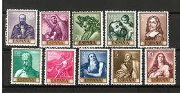 """1963 España Edifil 1498/1507 MNH- José Ribera """"el Españoleto"""" Serie Completa - 1931-Aujourd'hui: II. République - ....Juan Carlos I"""