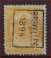 RIJKSWAPEN Nr. 54 Voorafgestempeld Nr. 9 Positie B   BRUXELLES 1894   ; Staat Zie Scan ! Inzet Aan 7,5 € ! - Precancels