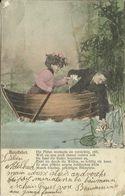 AK Liebespaar - Mann Und Frau Bei Kahnfahrt Mit Seerosen - Color 1903 #60 - Couples