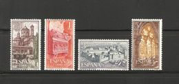 1963 España Edifil 1494/97** MNH- Monasterio De Poblet Serie Completa - 1931-Aujourd'hui: II. République - ....Juan Carlos I