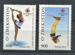 271 - OUZBEKISTAN 2011 - Yvert 815/16 - JO Asiatique Patinage Ski - Neuf **(MNH) Sans Trace De Charniere - Uzbekistán