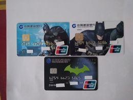 China, Batman , Movie , (3pcs) - Cartes De Crédit (expiration Min. 10 Ans)