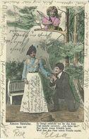 AK Liebespaar - Mann Und Frau - Amors Streiche - Color 1903 #61 - Couples
