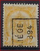 RIJKSWAPEN Nr. 54 Voorafgestempeld Nr. 11 Positie A   LIEGE 1894   ; Staat Zie Scan ! Inzet Aan 15 € ! - Precancels