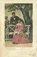 AK Liebespaar - Mann Und Frau Im Garten - Color 1901 K&k #63 - Couples