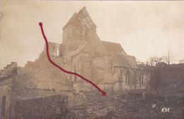 ( 60 ) -   MOULIN-sous-TOUVENT  Kirche Carte  Photo Allemande 1° Guerre - Zonder Classificatie