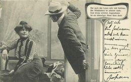 AK Liebespaar - Mann überrascht Lesende Frau - 1906 Konstanz #64 - Couples