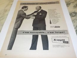 ANCIENNE PUBLICITE DES HOMMES QUI PARLENT CHIFFONS TERGAL  1955 - Non Classificati