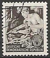 ALLEMAGNE / REPUBLIQUE DEMOCRATIQUE  N° 117 OBLITERE - DDR