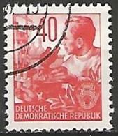 ALLEMAGNE / REPUBLIQUE DEMOCRATIQUE  N° 130 OBLITERE - DDR