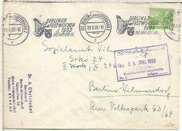 ALEMANIA BERLIN CC MAT BERLINER FESTWOCHEN 1953 MUSICA ARTE TEATRO TEATHER MUSIC ARPA - Music