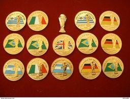 LOT DE 15 PIN'S FOOTBALL - FIFA WORLD CUP CHAMPION DE 1930 à 1994 (Manque 1938 ) - Fútbol