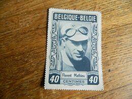 CYCLISME: CHROMO COUREUR DES ANNEES 50 BELGIQUE FLORENT MATHIEU -SUR IMITATION TIMBRE POSTE -IMPRIMERIE G.LEENS VERVIERS - Cycling