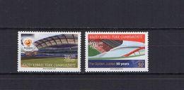 Turkish Cyprus 2004 Football Soccer European Championship Set Of 2 MNH - UEFA European Championship