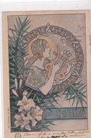TRES BELLE CARTE ART DECO / STYLE MUCHA / LES SAINTES 1 ERE SERIE / SAINTE CECILE / PRECURSEUR 1904 - Firstnames