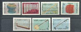 271 - VIETNAM 1985 - Yvert 637/43 - Instrument Musique - Neuf ** (MNH) Sans Trace De Charniere - Vietnam