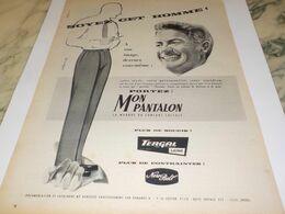 ANCIENNE PUBLICITE PANTALON  TERGAL  1959 - Non Classificati