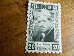 CYCLISME: CHROMO COUREUR DES ANNEES 50 BELGIQUE LODE ANTHONIS- IMITATION TIMBRE POSTE -IMPRIMERIE G.LEENS VERVIERS - Cycling