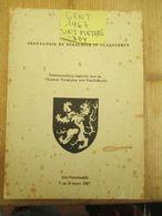 Gent 1967 Sint Pietersabdij Genealogie En Heraldiek In Vlaanderen Van Vaernewyck - Historia