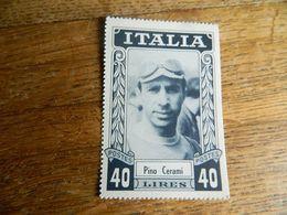 CYCLISME: CHROMO COUREUR DES ANNEES 50 ITALIE PINO CERAMI- IMITATION TIMBRE POSTE -IMPRIMERIE G.LEENS VERVIERS - Cycling