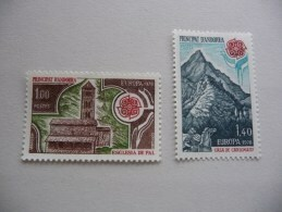 TIMBRES  ANDORRE  FR  1978  N  269 / 270  COTE  27  EUROS  NEUFS  LUXE** - French Andorra